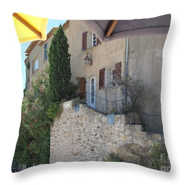 French Riviera - Ramatuelle Throw Pillow