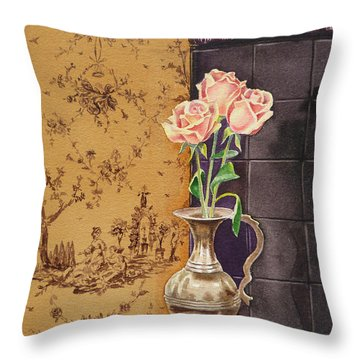 French Roses Throw Pillow
