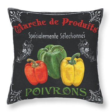 French Vegetables 3 Throw Pillow