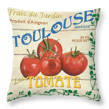 French Veggie Sign 3 Throw Pillow