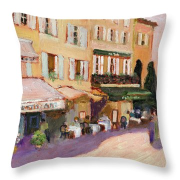 French Village Throw Pillow