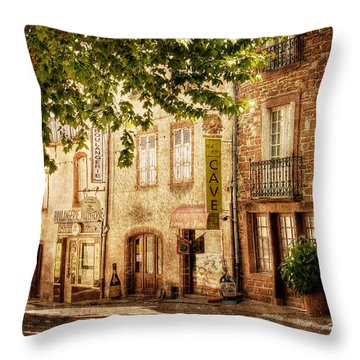 French Village Street / Meyssac Throw Pillow