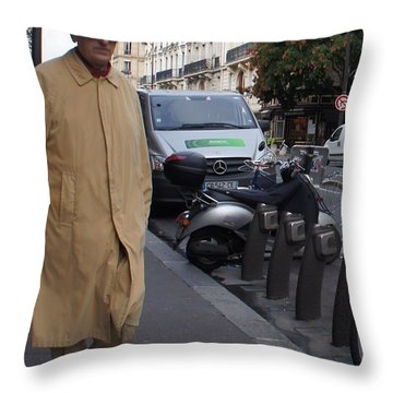 Frenchman Incognito Throw Pillow by Kristine Bogdanovich