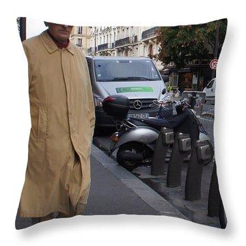 Frenchman Incognito Throw Pillow