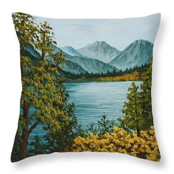 Frenchmans Lake Throw Pillow