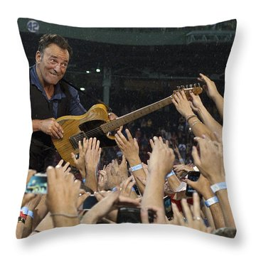 Frenzy At Fenway Throw Pillow