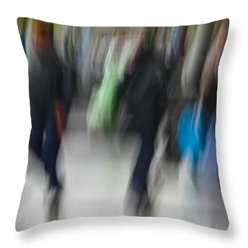 Throw Pillow featuring the pyrography Frenzy by Danica Radman