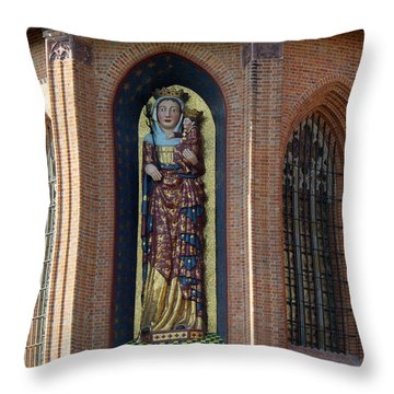 Fresco Painting Over Window Of Church Throw Pillow