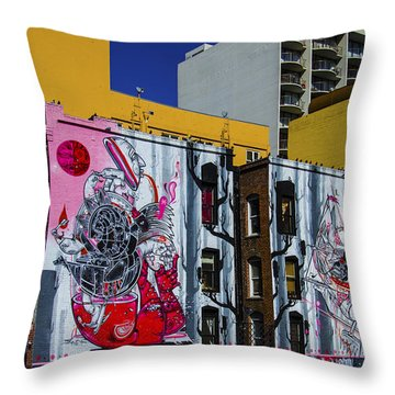 Frescos Throw Pillow by Pravine Chester