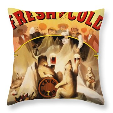 Fresh And Cold Direct From The North Pole Throw Pillow by Bill Cannon