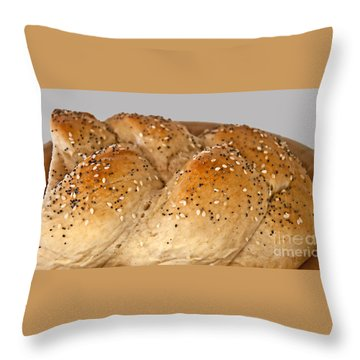 Fresh Challah Bread Art Prints Throw Pillow