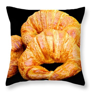 Fresh Croissants Throw Pillow