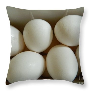 Throw Pillow featuring the photograph Fresh Eggs by Emmy Marie Vickers