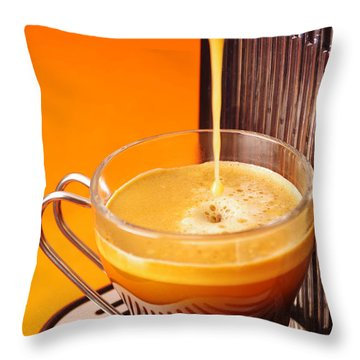 Fresh Espresso Throw Pillow by Carlos Caetano