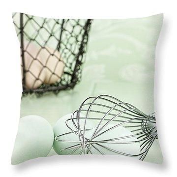 Fresh Farm Eggs And Whisk Throw Pillow