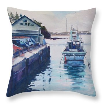 Fresh Fish For Tea Throw Pillow