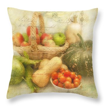 Fresh From The Garden Throw Pillow by Linda Lees