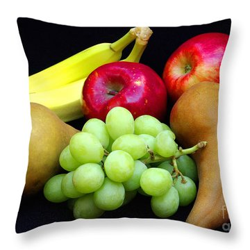 Fresh Fruit Two Throw Pillow by James C Thomas