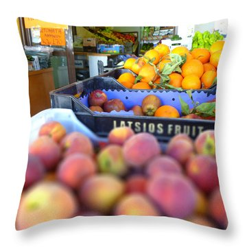 Throw Pillow featuring the photograph Fresh Fruit by Vicki Spindler