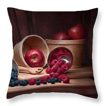 Fresh Fruits Still Life Throw Pillow by Tom Mc Nemar