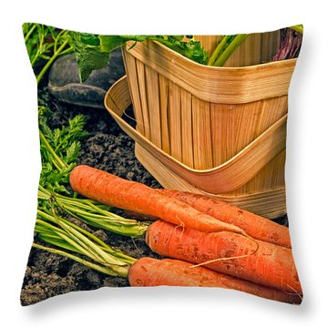 Fresh Garden Vegetables Throw Pillow by Edward Fielding