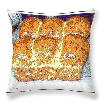 Fresh Homemade Bread 2 Throw Pillow by Barbara Griffin