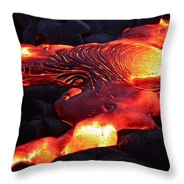 Fresh Lava Flow Throw Pillow
