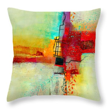 Fresh Paint #2 Throw Pillow by Jane Davies
