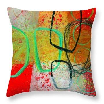 Fresh Paint #3 Throw Pillow by Jane Davies