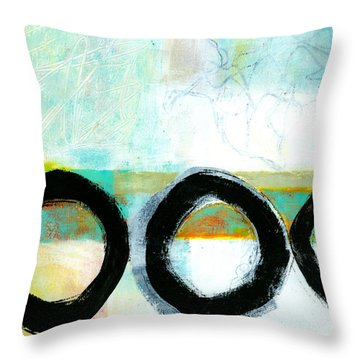 Fresh Paint #4 Throw Pillow by Jane Davies
