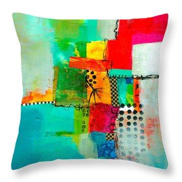 Fresh Paint #5 Throw Pillow by Jane Davies