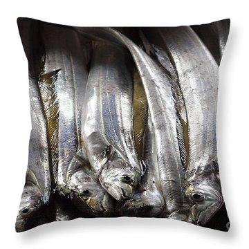 Fresh Ribbonfish For Sale In Taiwan Throw Pillow