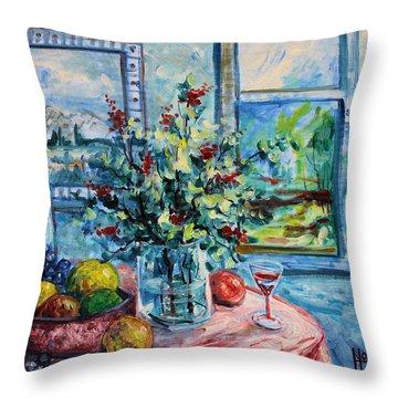 Fresh Spring Throw Pillow by Leonard Holland