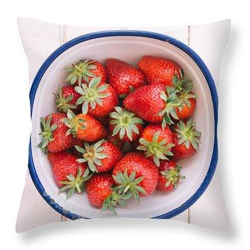 Fresh Strawberries  Throw Pillow by Viktor Pravdica