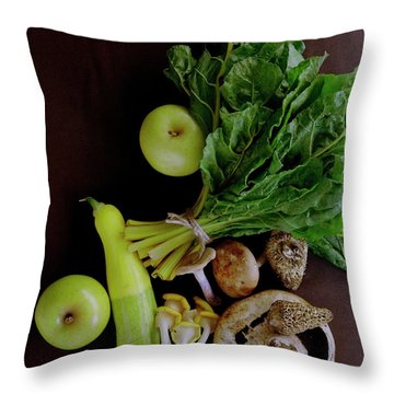 Fresh Vegetables And Fruit Throw Pillow