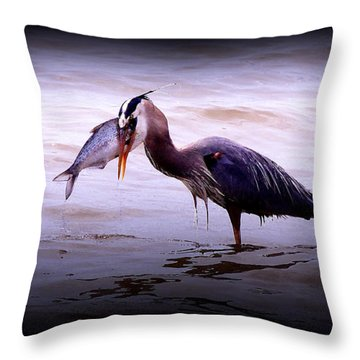 Throw Pillow featuring the photograph Freshly Caught by Ola Allen
