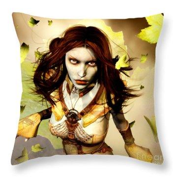 Freya Throw Pillow by Gabor Gabriel Magyar - Forgottenangel