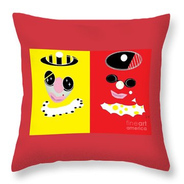 Frick And Frack  Throw Pillow