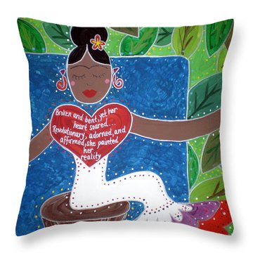 Frida Kahlo Throw Pillow by Angela Yarber