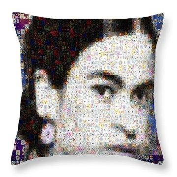 Frida Kahlo Mosaic Throw Pillow