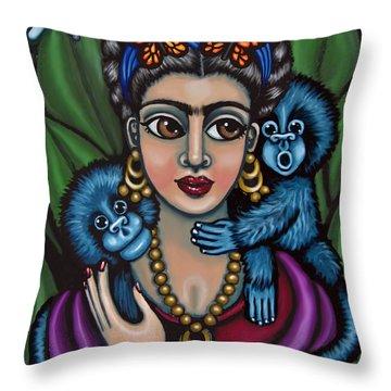 Frida's Monkeys Throw Pillow