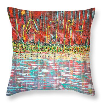 Friday At The Beach - Sold Throw Pillow