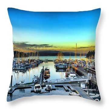 Friday Harbor Throw Pillow
