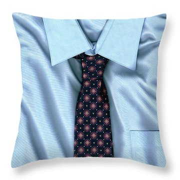 Friday Morning - Men's Fashion Art By Sharon Cummings Throw Pillow