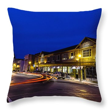 Friday Night Lights Throw Pillow by James  Meyer