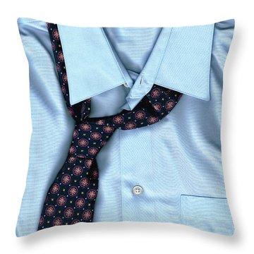 Friday Night - Men's Fashion Art By Sharon Cummings Throw Pillow