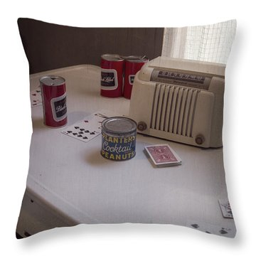 Friday Night Poker Game  Throw Pillow by Edward Fielding