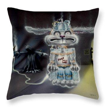 Fried Rabbit Throw Pillow