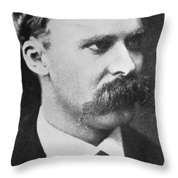 Friedrich Wilhelm Nietzsche Throw Pillow