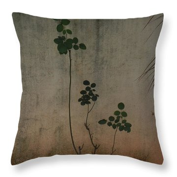 Friendless Rose Bush Throw Pillow by Mini Arora